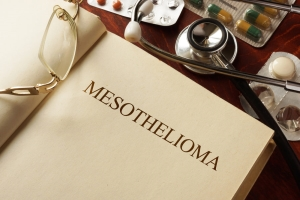 Book with diagnosis Mesothelioma. - Stock Photo #90767938
